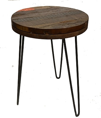 Nicahome Lily End Table; Black