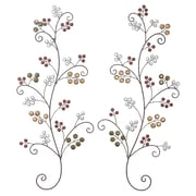 ABCHomeCollection 2 Piece Traditional Hand Carved Wood Panel Wall D cor Set