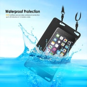 "BasAcc IPX8 certified Waterproof Pouch Dry Bag Full Accessibility Carrying Case 6.5""x3.5"" for Smartphone, Black (2211500)"