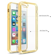 BasAcc Clear TPU Rubber Back Cover with Gold Chrome Edge Bumper For Apple iPhone SE / 5S / 5