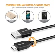 BasAcc 3.3FT USB 2.0 Type C Male to USB Type A Male Cable (USB-C to USB-A) - Black