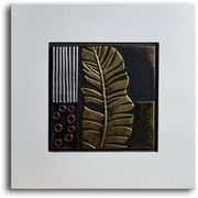 My Art Outlet Embossed Banana Frond Original Painting Plaque