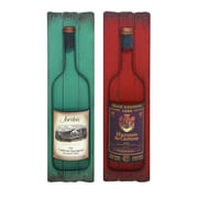 Woodland Imports 2 Piece D cor Wine Label Wall D cor Set