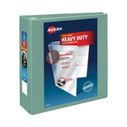 Avery Heavy-Duty One Touch EZD 4-Inch 3-Ring View Binder, Sea Green (79347)