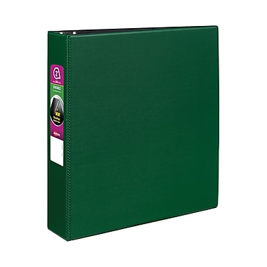 Avery Durable 2-Inch Slant D 3-Ring Binder, Green (27553)