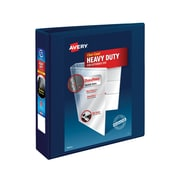 Avery Heavy-Duty 2-Inch D 3-Ring View Binder, Navy Blue (79802)