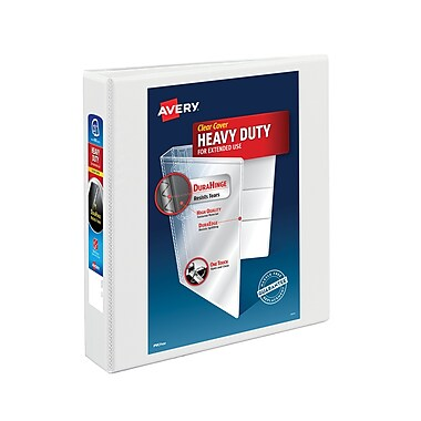 Avery Heavy Duty 1.5-Inch Slant D 3-Ring View Binder, White (5404)
