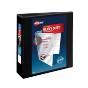 """3"""" Avery® Heavy-Duty View Binder with One Touch Slant-D™ Rings, Black"""