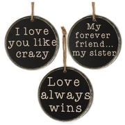 Blossom Bucket 3 Piece Love/Always/Sister Wood Signs Wall D cor Set