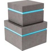 Bigso Alva 2 Piece Floating Box; Grey/Blue