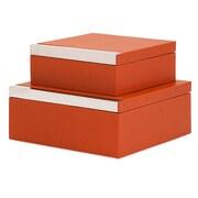 Trisha Yearwood Home Collection Persimmon 2 Piece Shagreen Box Set