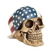 CoreofDecor American Flag Bandana Skull Figurine