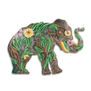 BeyondBorders Painted Flower Paradise Elephant Wall Decor