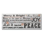 AdecoTrading Decorative Wood Wall Hanging Sign Christmas Word Collage Wall D cor