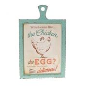 American Mercantile 'Egg' Wood Sign Wall Decor