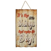 American Mercantile Metal Sign 'Little Things' Wall Decor