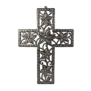 BeyondBorders Cross of Flower Wall Decor