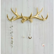 Wall Charmers Faux Taxidermy Antler Hook; Gold