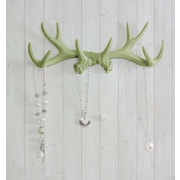 Wall Charmers Faux Taxidermy Antler Hook; Sage Green