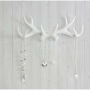 Wall Charmers Faux Taxidermy Antler Hook; White