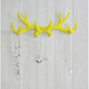 Wall Charmers Faux Taxidermy Antler Hook; Yellow