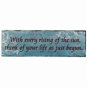 AdecoTrading ''With Every Rising of the Sun'' Wall Decor