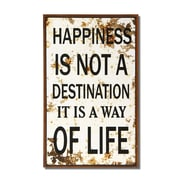 AdecoTrading ''Happiness Is Not A Destination'' Wall Decor