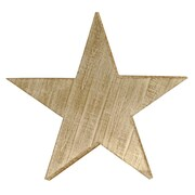American Mercantile Wood Star Wall Decor; Large