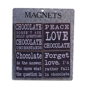 American Mercantile 4 Piece Wood Magnets 'Chocolate' Wall Decor Set