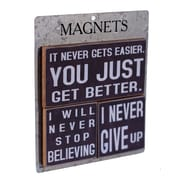 American Mercantile 3 Piece Wood Magnets 'Get Better' Wall Decor Set
