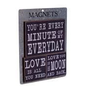American Mercantile 3 Piece Wood Magnets 'Every Minute' Wall Decor Set
