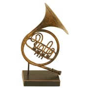 ABCHomeCollection Metal Decor French Horn Sculpture