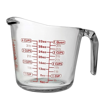 Fox Run Craftsmen Anchor 3-Piece Glass Measuring Cup Set WYF078280013768