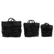 BirdRock Home Decorative Willow 3 Piece Basket Set