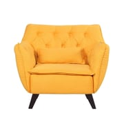 Madison Home USA Mid-Century Modern Arm Chair; Yellow