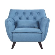 Madison Home USA Mid-Century Modern Arm Chair; Blue