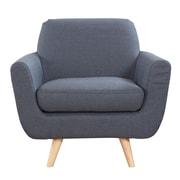 Madison Home USA Mid-Century Modern Accent Arm Chair; Dark Gray