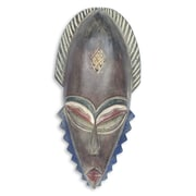Novica Elderly Man Depicted in an African Mask Wall D cor