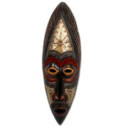 Novica Abdul Aziz Mohamadu Authentic Hand Carved Akan Tribe African Mask Wal Decor