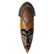 Novica Abdul Aziz Mohamadu Protect The Jungle African Wood Mask Wall Decor