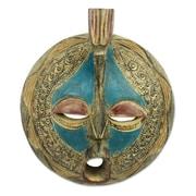 Novica Eric Danquah Faithful Love Handmade Akan Tribe Wood Mask Wall Decor