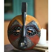 Novica Robert Nortey Yellow Bird Hand Carved Akan Tribal Mask Wall Decor