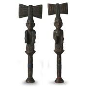 Novica Hand Carved Wood Sculpture (Set of 2)