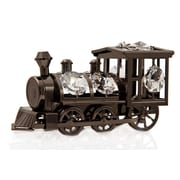 MatashiCrystal Charcoal Metal Plated Train Sculpture