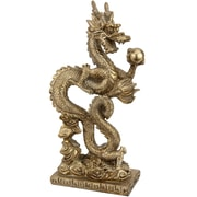 Oriental Furniture Standing Long Dragon Statue