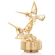 MatashiCrystal Hummingbirds Music Box Figurine