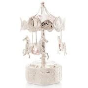MatashiCrystal Carousel Horse Music Box Figurine