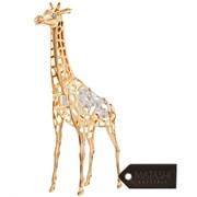 MatashiCrystal 24K Gold Plated Crystal Studded Long Necked Giraffe Figurine