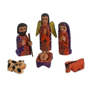 Novica Jose Canil Ramos 10 Piece Hand Crafted Nativity Scene Wood Sculpture Set