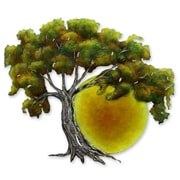 Novica Alejandro de Esesarte Collectible Hand Painted Tree Steel Wall Decor